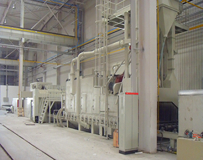 Steel structure, blasting processing line