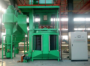 Combined rotary shot peening machine